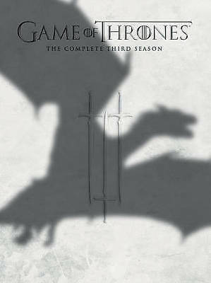 Game of Thrones: The Complete Third Season (DVD, 2014, 5-Disc Set) NEW