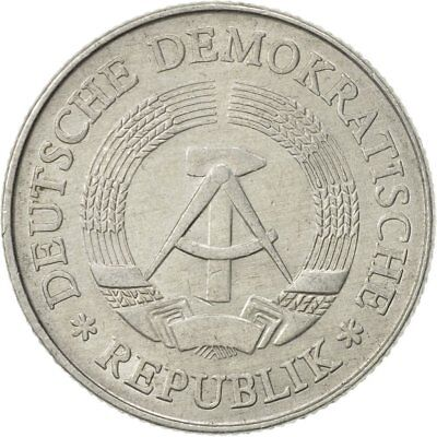 [#468718] GERMAN-DEMOCRATIC REPUBLIC, 2 Mark, 1975, Berlin, SS, Aluminium, KM:48
