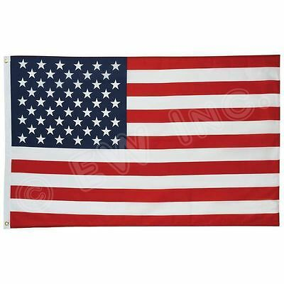 4-Pack 3x5 American Flags w/ Grommets - USA United States of America - US Stars
