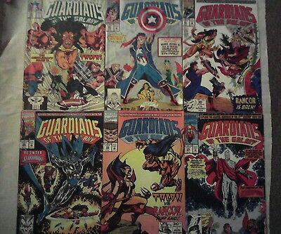The Original Guardians of the Galaxy comic book lot 4 issues #19-24(Marvel,1990)
