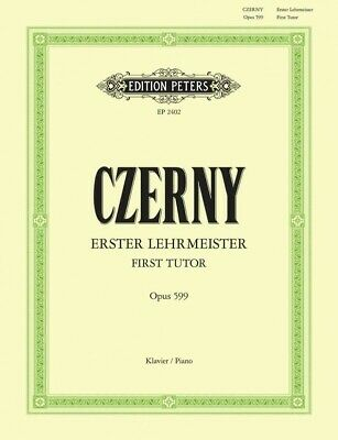 CZERNY - First Tutor Opus 599 Peters Edition Piano Book *NEW* Sheet Music