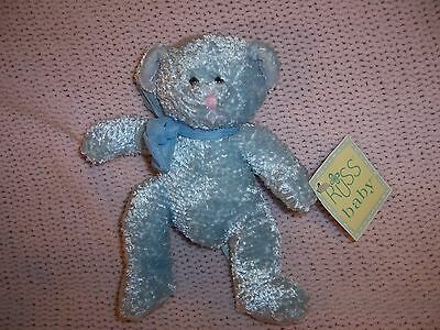 """Russ Baby Tinkle Bear Light Blue Cherished Moments #2570 With Tag 7.5"""" Sooo Cute"""