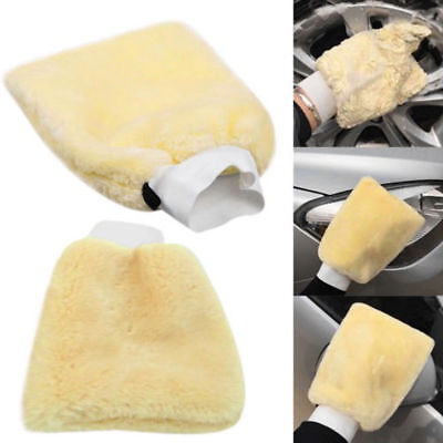 24x16cm Car Lambswool Wash Mitt Soft Sheepskin Buffing Cleaning Glove Trendy