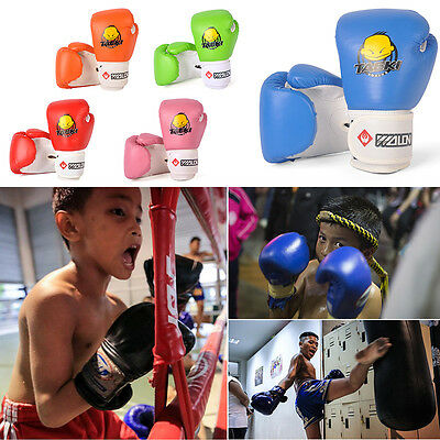 1 Pair Durable Children Kids Safe Boxing Gloves Punching Fight Training Age 3-12