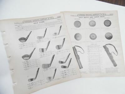1911 Golf Catalog Section Hibbard Spencer Bartlett & Co Clubs Balls More Antique