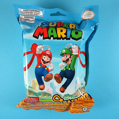 SUPER MARIO Backpack Buddies, Mystery Blind Pack Keychain Figure, Nintendo 2016