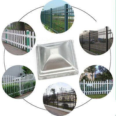 2Pcs 100*100mm Irron Square Metal Fence Pyramid Post Cap Fencing Tube Cover