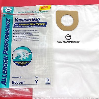 3 Vacuum Bags To Fit Hoover Type Y Cloth Allergen Vacuum Bags