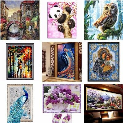 AU 5D Diamond Painting Animals Flowers Landscape Embroidery Cross Stitch Craft