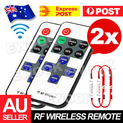 2X 12V RF Wireless Remote Switch Controller Dimmer for Mini LED Strip Light EA