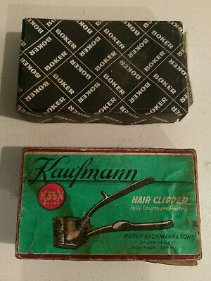 Hair Clippers Vintage rare collectabe Boker & Kaufmann clipper lot