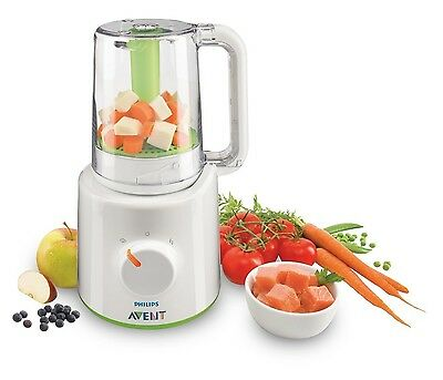 Philips AVENT 2-in-1 Combined Baby Food Steamer and Blender Compact SCF870/21