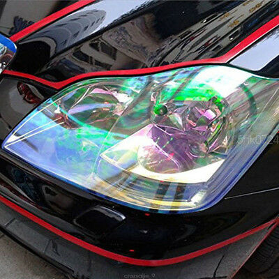 Chameleon Colorful Clear Autos Headlight Tail Fog Light Vinyl Tint Film 200x30cm