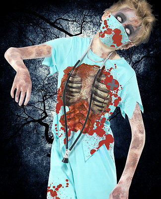 ★ Zombie Horror Kinder Arzt Chirurg Dokter, Halloween Kostüm Surgeon 128-164
