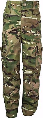 Kids Polycotton MTP HC Army Soldier Style Camo Camouflage Combat Play Trousers