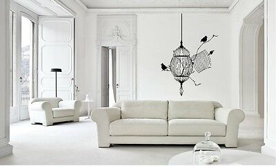 Bird Cage Nature Home Art Wall Sticker Decal Removable Unique Vintage New