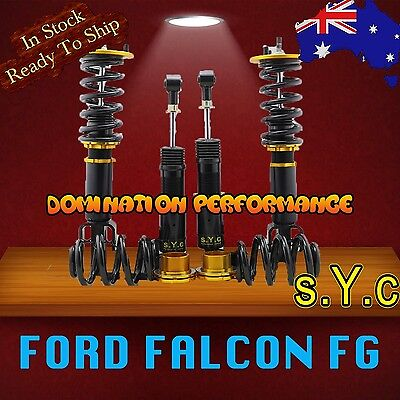 Coilover Kit - SYC Ford Falcon FG Fully Adjustable Front & Rear Coilovers