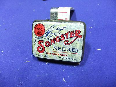 vtg needle tin songster 200 loud tone gramophone record sheffield