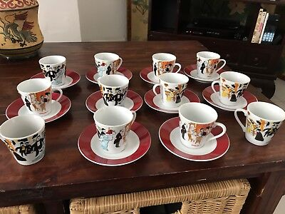 LOT DE 12 Tasses À CAFÉ MAXIM'S DE PARIS