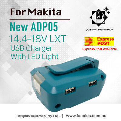 For Makita ADP05 18V LXT USB Power Source Dual Port Cordless USB Charger & Adapt
