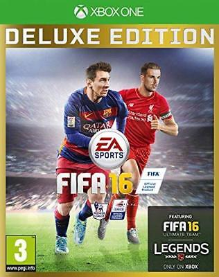FIFA 16 Deluxe Edition Xbox One Official UK Pal Stock New BUT NOT FACTORY SEALED