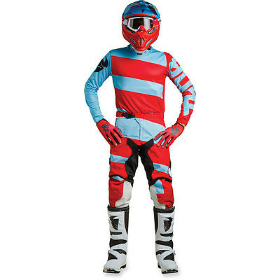 New 2018 Thor Pulse Jersey Pant Kit Motocross 32 34 36 38 Level Powder Blue Red