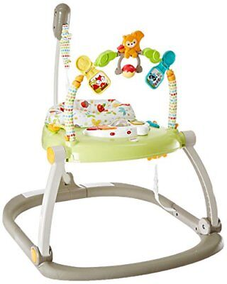 Fisher-Price Woodland Friends SpaceSaver Jumperoo Baby Doorway Jumpers, New