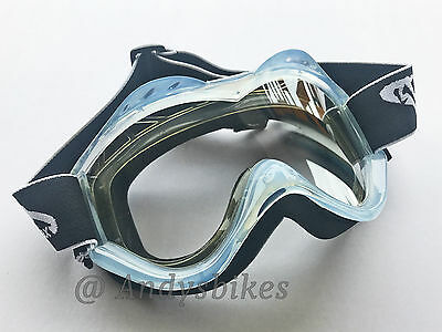 Vmax Off Road Motocross Mx Motorcross Crosser Goggles Adults / Kids Clear White