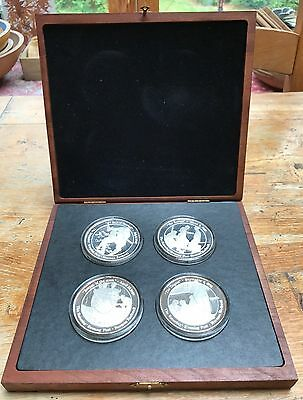 20 TROY OUNCES .999 SILVER COINS SAT. EVE POST ROCKWELL 100yr Baseball Boxed Set