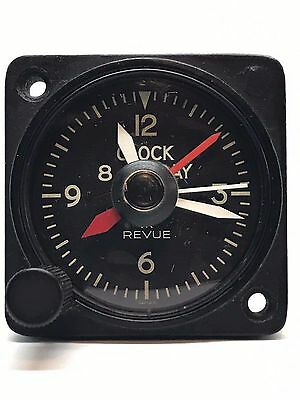 Revue Thommen Cal.90 A-11 Aircraft Clock with Elapsed Time Hands Serviced*