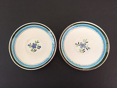 Lot of 2 Stangl Pottery Country Garden Brown Body - TEA CUP SAUCERS