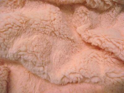 Super Luxury Faux Fur Fabric Material - PINK BUTTERFLY