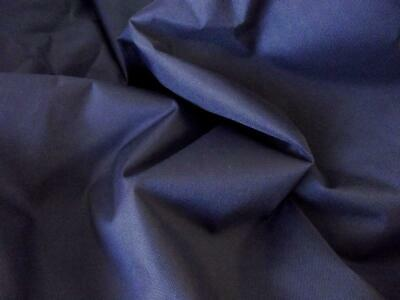 Soft PU Coated Water-Resistant Polyester Fabric Material - NAVY