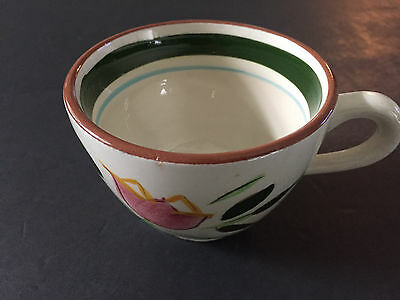 """Stangl Pottery Country Garden Brown Body 2-Sided Flower Pattern - 2-5/8"""" TEA CUP"""