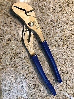 """Ampco P-39 AL BR Non-Sparking Non-Magnetic 10"""" Groove Joint Pliers New"""