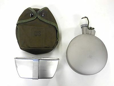 Unissued Us Military M1956 Insulated 1 Quart Arctic Canteen W/ Cover & Cup