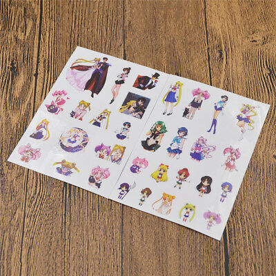 Anime Sailor Moon DIY Scrapbook Stickers Couples Lovers Diary Paper Card Decor
