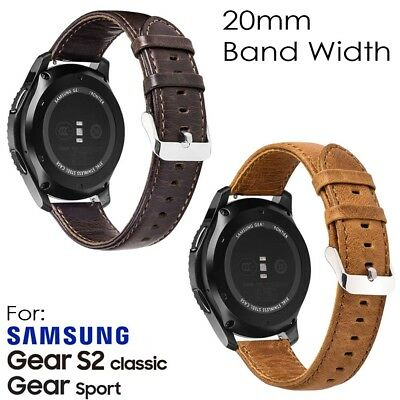Genuine Leather Replacement Band Strap for Samsung Gear S2 20mm