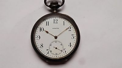 Zenith silver vintage pocket watch RARE