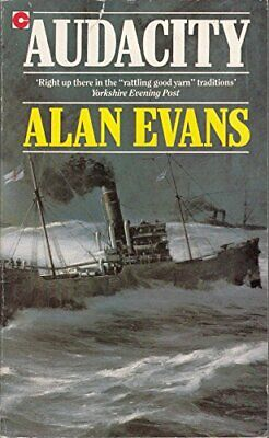 Audacity (Coronet Books) by Evans, Alan Paperback Book The Cheap Fast Free Post