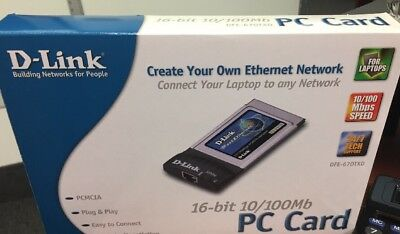 D-Link PC Card 16 Bit 10/100mb Laptop to any Network
