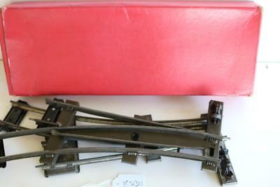 O GAUGE  hornby LEFT AND RIGHT HAND POINTS IN BOX  KS311