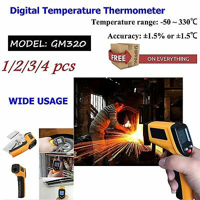 4x Non-Contact LCD IR Laser Infrared Digital Temperature Thermometer Gun DMUKF&