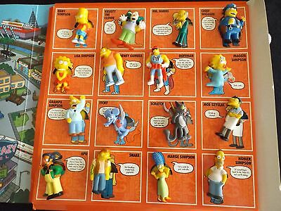 2009 The Simpsons 20 Years  STICK EMS Complete set of 16 Toys in Folder