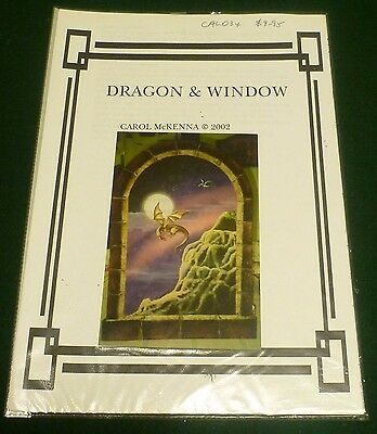 "FOLK ART PATTERN ""DRAGON & WINDOW"" by Carol McKenna, A2 size"