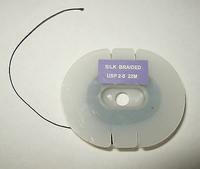 Suture Thread : Silk Braided Size Usp 2.0
