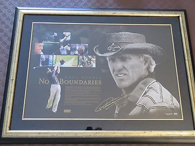 Greg Norman FRAMED No Boundaries Golf Signed Limited Edition with COA No. 7/350