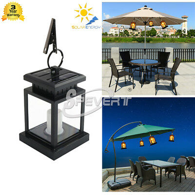 Outdoor Candle Light Solar Powered LED Garden Path Wall Carriage Lantern Lamp