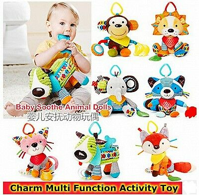 Baby Toddler Kid Soft Stuffed Chime Rattle Squeaky Brilliant Activity Toy Doll
