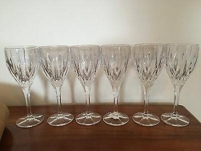 Stuart crystal 6 Ashbury wine glasses Redhouse collection
